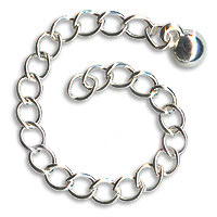 Silver Plated Chain Necklace Extender With Ball End - 3 Inch (x10)