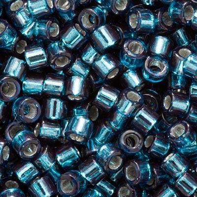 Miyuki Delica Seed Beads, 10/0 Size, 8 Grams, Silver Lined Blue Zircon DBM0608