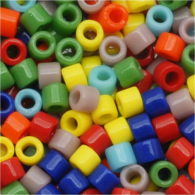 Miyuki Delica Seed Beads, 10/0 Size, 8 Grams, Mix Opaque Rainbow