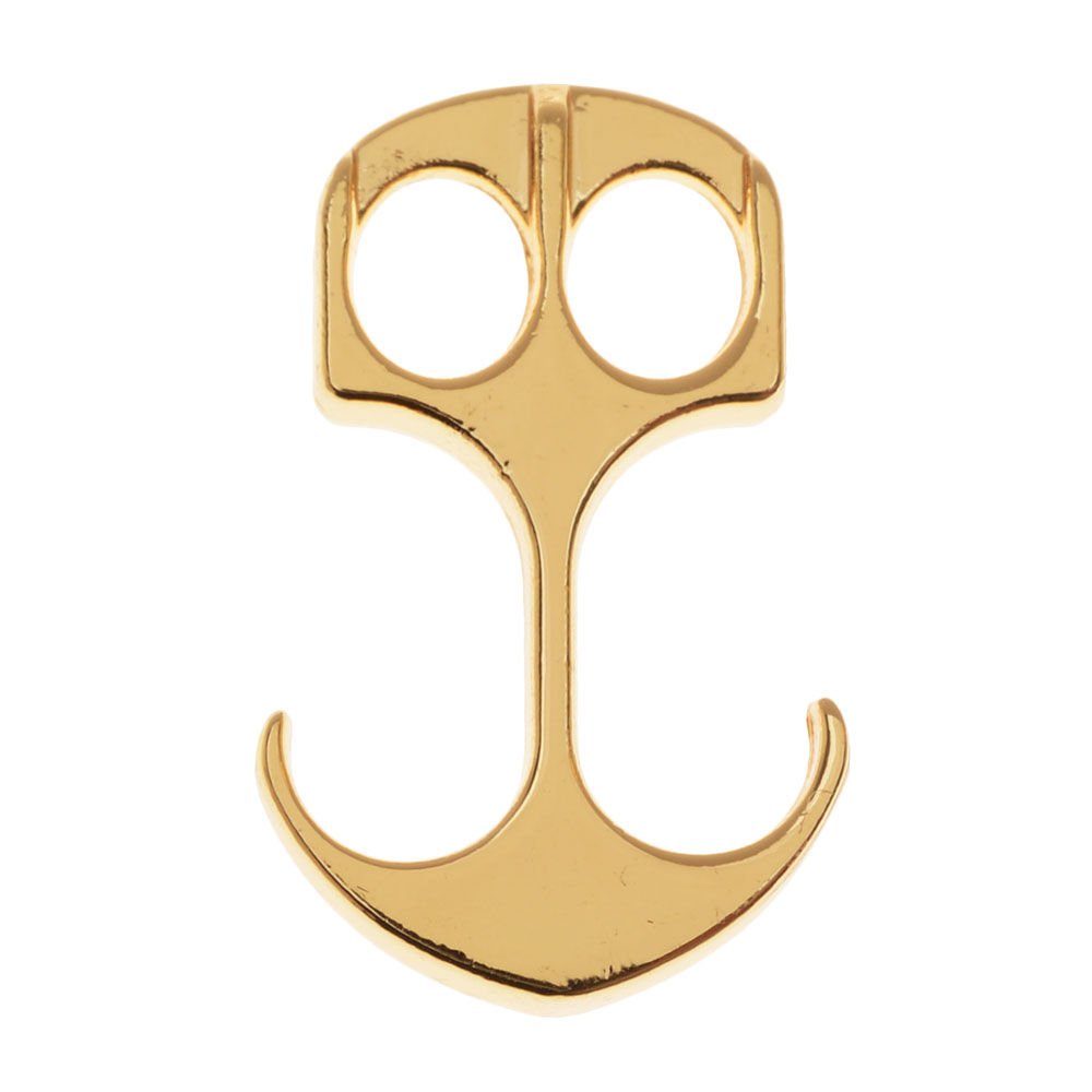 Faux Leather Cord Clasp, Anchor Shape fits up to 4.5mm Cord 26.5x16.5mm, 1 Piece, Gold Tone