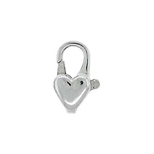 Sterling Silver Curved Heart Lobster Clasps 13mm (1)