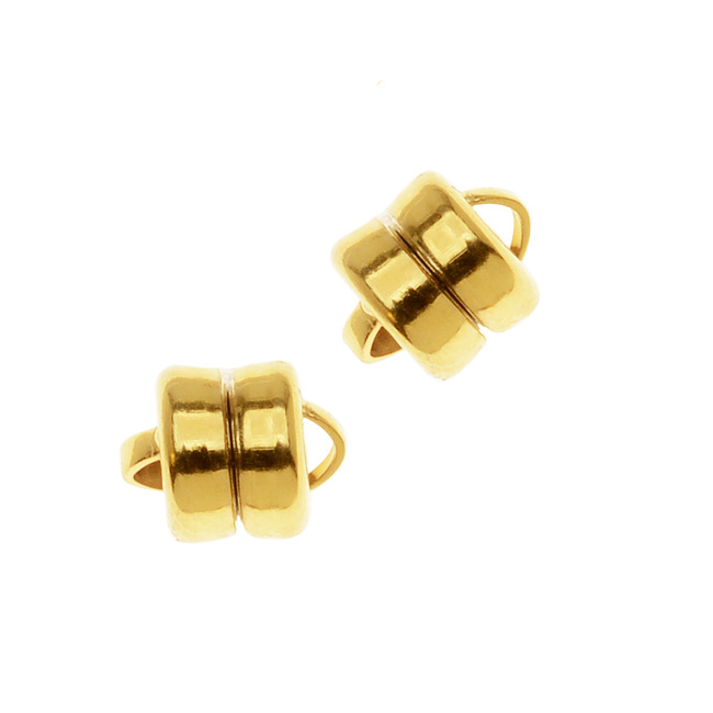22K Gold Plated Magnetic Clasps 6mm x 8mm (3)