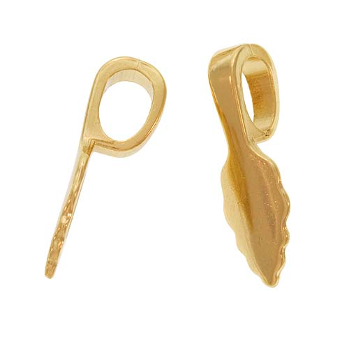 Aanraku, Glue-On Pendant Bails, Large, 10 Pieces, Gold Plated