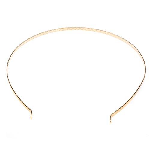 22K Gold Plated Metal Tiara Headband Frame - Fun Craft Beading Project 5.5 Inches (1)