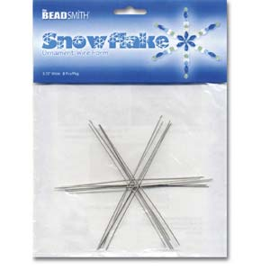 The Beadsmith Metal Wire Snowflake Forms - Fun Craft Beading Project 3 3/4 Inches
