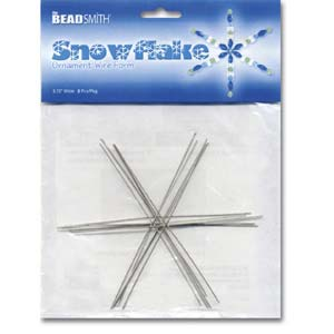 The Beadsmith Metal Wire Snowflake Forms - Fun Craft Beading Project 4 1/2 Inches