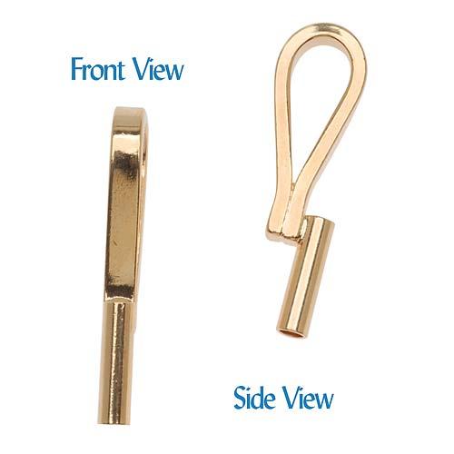 Gold Plated Vertical Pin Converter Convert Brooch To A Pendant