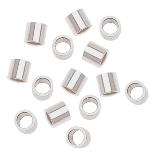 Sterling Silver Crimp Beads Large 3X3mm (10)