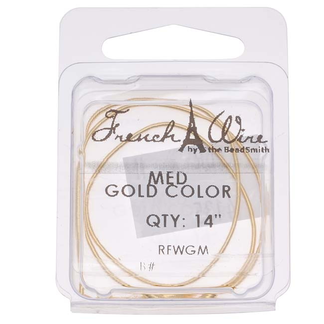 French Wire (Bullion) Gold Color Med - 14 Inch