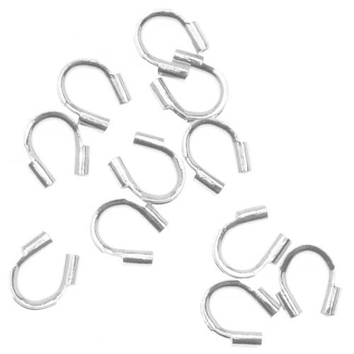Silver Plated Wire & Thread Protectors .019 Inch Loops (50)