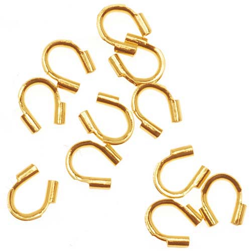 Wire & Thread Protectors, .019 Inch Loops, 50 Pieces, 22K Gold Plated