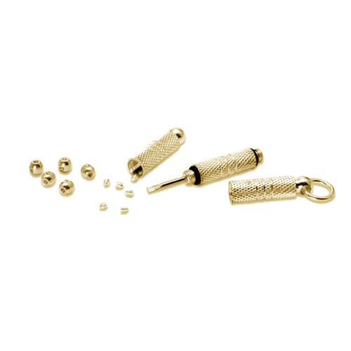 Beadalon Gold Plated Scrimps Kit - Screw Driver & Crimp Beads