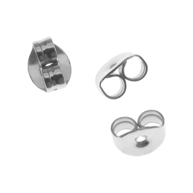 Surgical Steel Earring Backs (Earnuts) Medium (100)