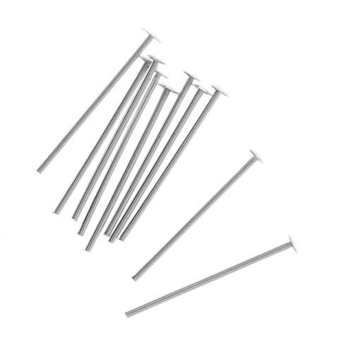 Sterling Silver Head Pins 24 Gauge 1/2 Inch (20)
