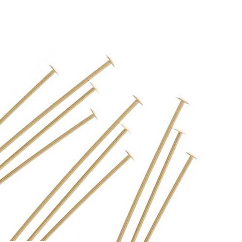 14K Gold Filled Head Pins 24 Gauge 1.5 Inches Long (10)