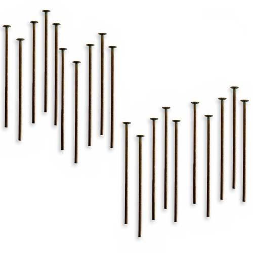 Vintaj Natural Brass Head Pins 21 Gauge 1 Inch (20)