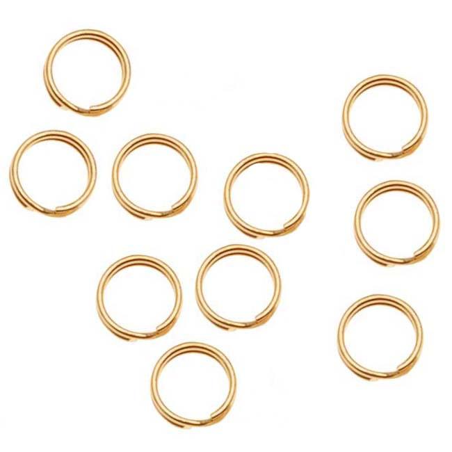 14K Gold Filled Split Rings 4.5mm (10)