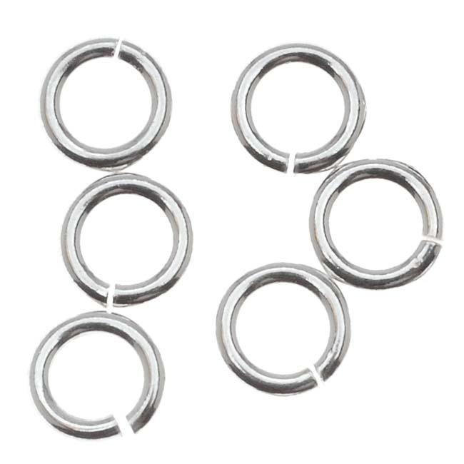 Sterling Silver Open Jump Rings 5mm 18 Gauge (10)
