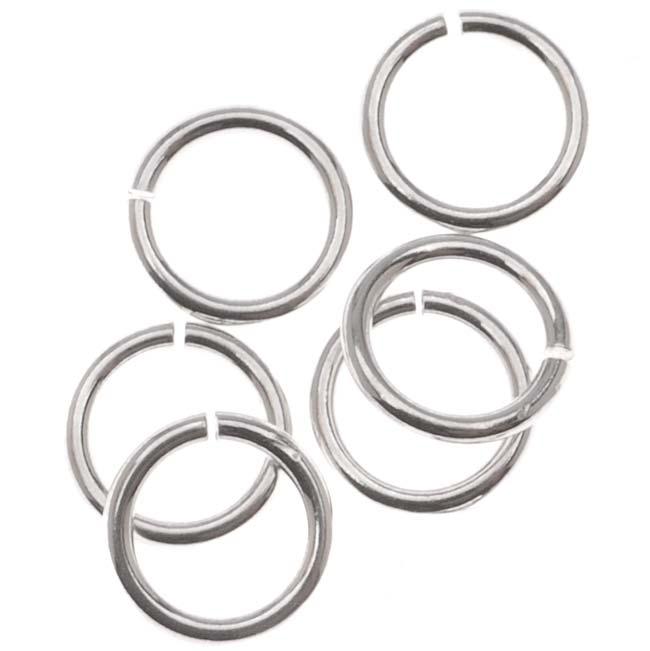 Sterling Silver Open Jump Rings 6mm 20 Gauge Heavy (10)