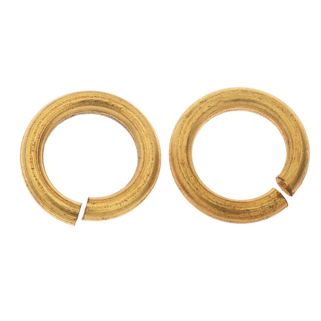 Final Sale - Raw Brass Jump Ring Findings, Heavy 11.5mm Diameter,  2 Pieces