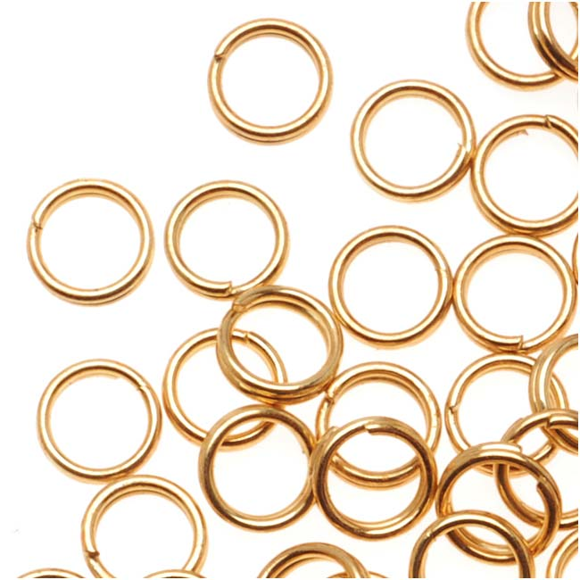 22K Gold Plated Split Rings 5mm (x100)