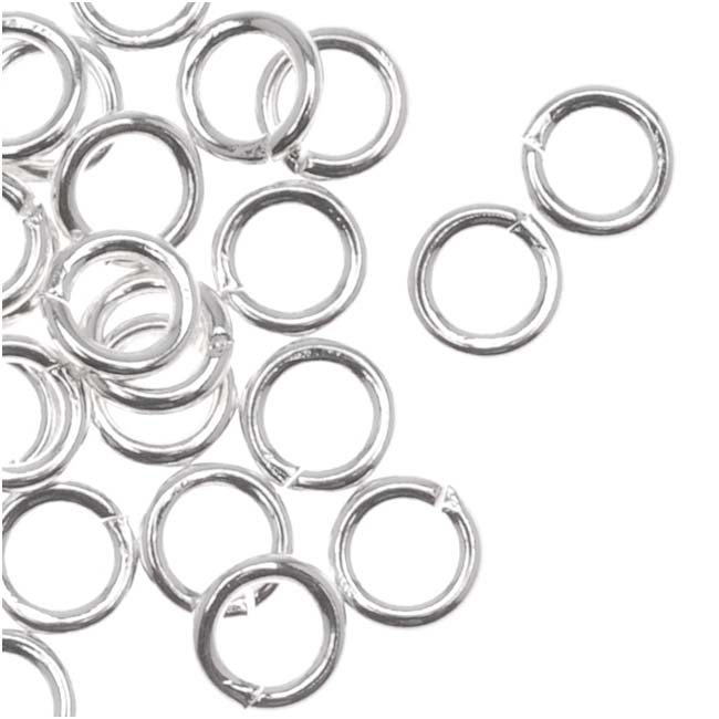 Silver Plated Open Jump Rings 4mm 20 Gauge (50)