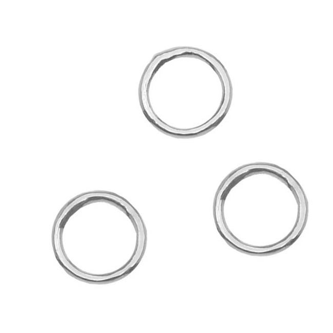 Silver Plated Closed Jump Rings 5mm 20 Gauge (50)