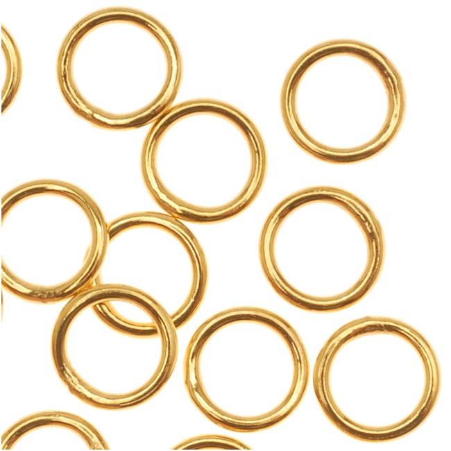 Antiqued Brass Split rings 6mm (50)