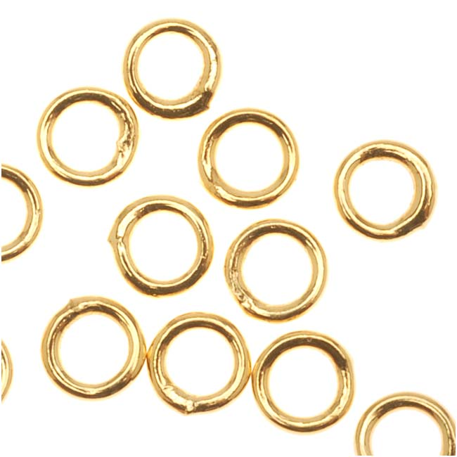 22K Gold Plated Closed Jump Rings 4mm 20 Gauge (20)