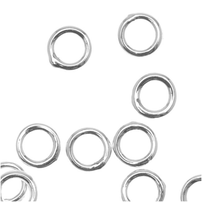 Silver Plated Closed Jump Rings 4mm 20 Gauge (20)