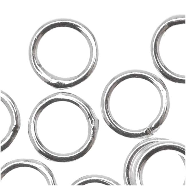 Silver Plated Closed Jump Rings 6mm 18 Gauge (20)