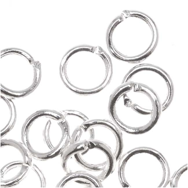 Silver Plated Open Jump Rings 5mm 18 Gauge (50)