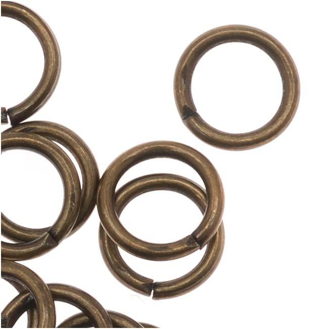 Final Sale - Antiqued Brass Open Jump Rings 19 Gauge 6mm (50)