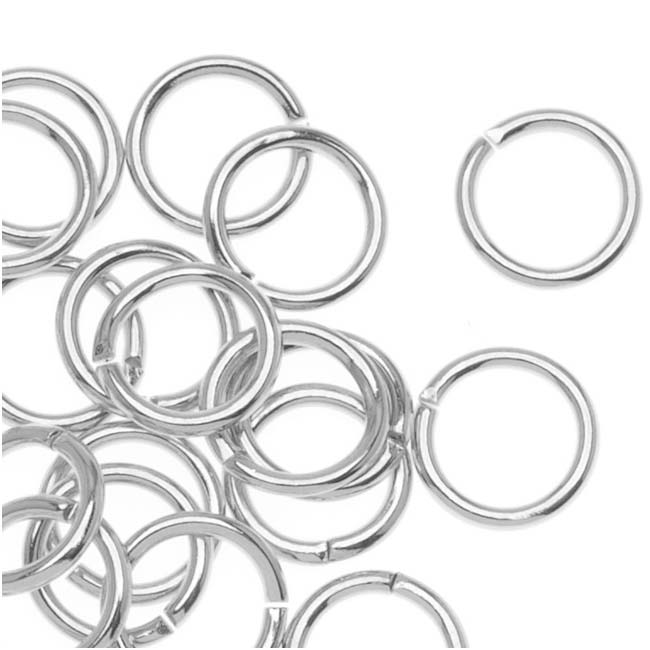 Silver Plated Open Jump Rings 7mm 20 Gauge (x100)