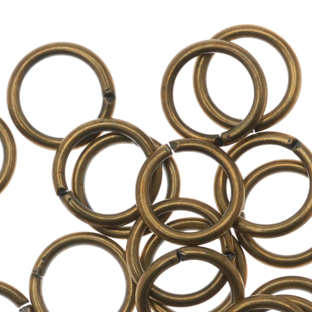 Antiqued Brass Open Jump Rings 7mm 19 Gauge (20)