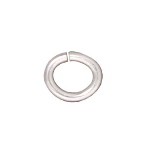 TierraCast Silver Plated Brass Open Oval Jump Rings 6mm 20 Gauge (50)