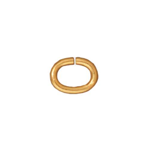 TierraCast 22K Gold Plated Brass Open Oval Jump Rings 6mm 20 Gauge (50)