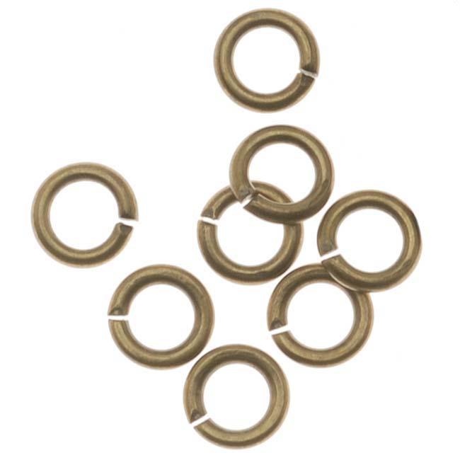Antiqued Brass Open Jump Rings 4mm 20 Gauge (x100)