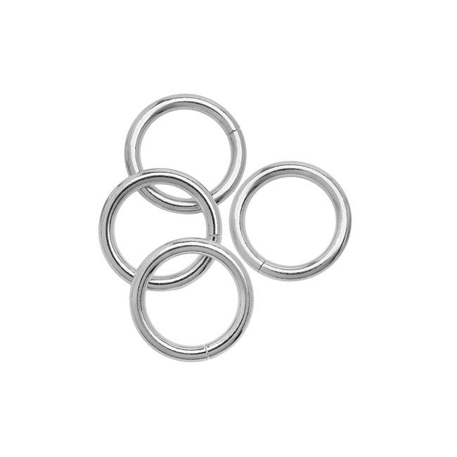 Open Jump Rings, 20mm Diameter 2.5mm Thick, 4 Pieces, Silver Plated