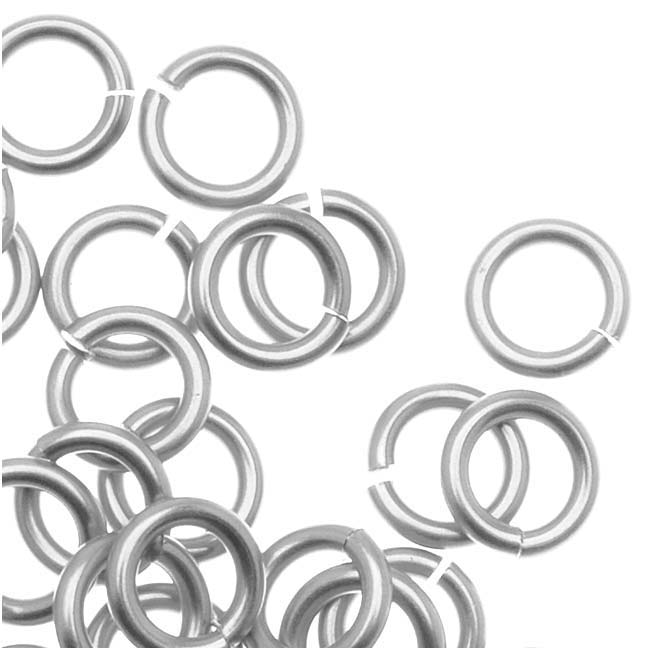 Artistic Wire Chain Maille Jump Ring Silver Plated 18Ga/Id 3.18mm X80