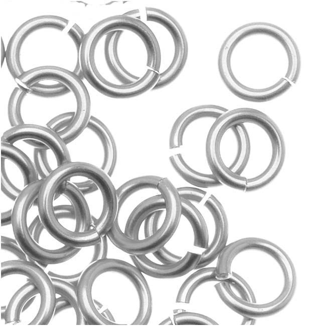 Artistic Wire, Chain Maille Jump Rings, 18 Ga / ID 3.57mm / 70pc, Tarnish Resistant Silver Plated
