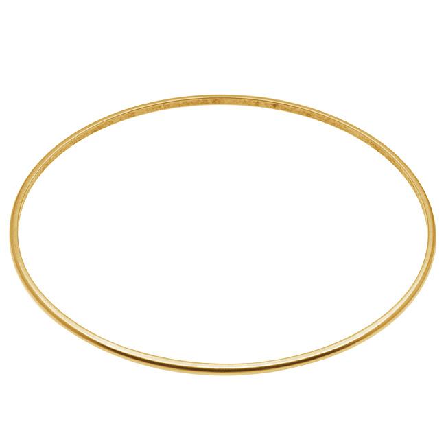 Final Sale - Nunn Design Antiqued 24kt Gold Plated Thin Bangle Bracelet - 2 3/4 Inch  (1)