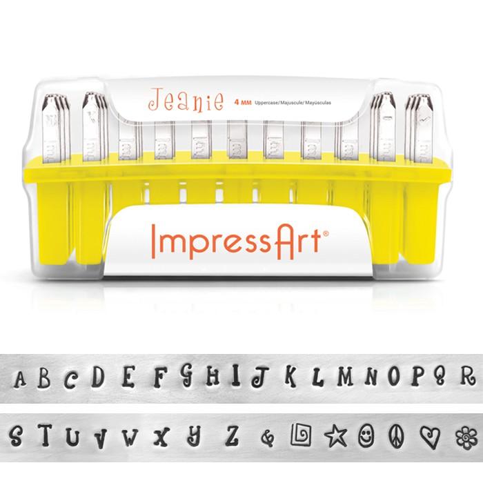 ImpressArt 33-Piece Deluxe Uppercase Alphabet Stamps