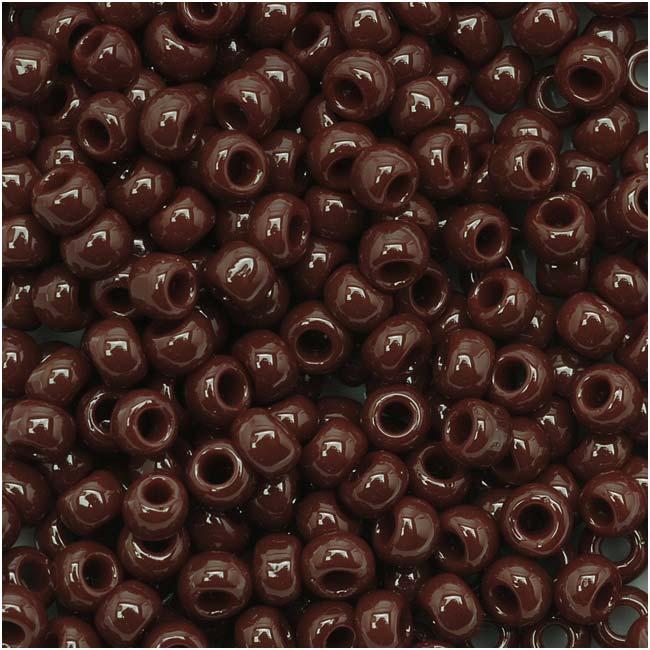 Toho Round Seed Beads 8/0 46 'Opaque Oxblood' 8 Gram Tube