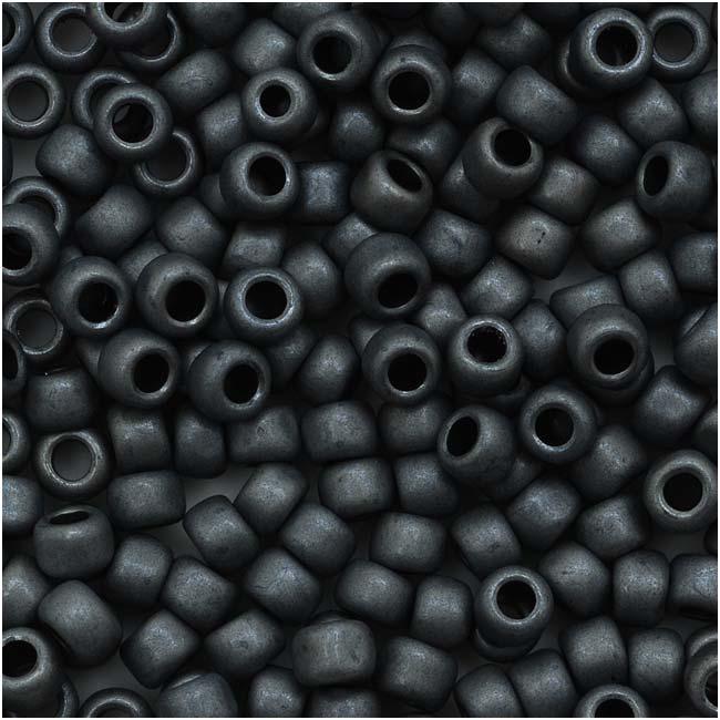 Toho Round Seed Beads 8/0 611 'Matte Opaque Gray' 8 Gram Tube