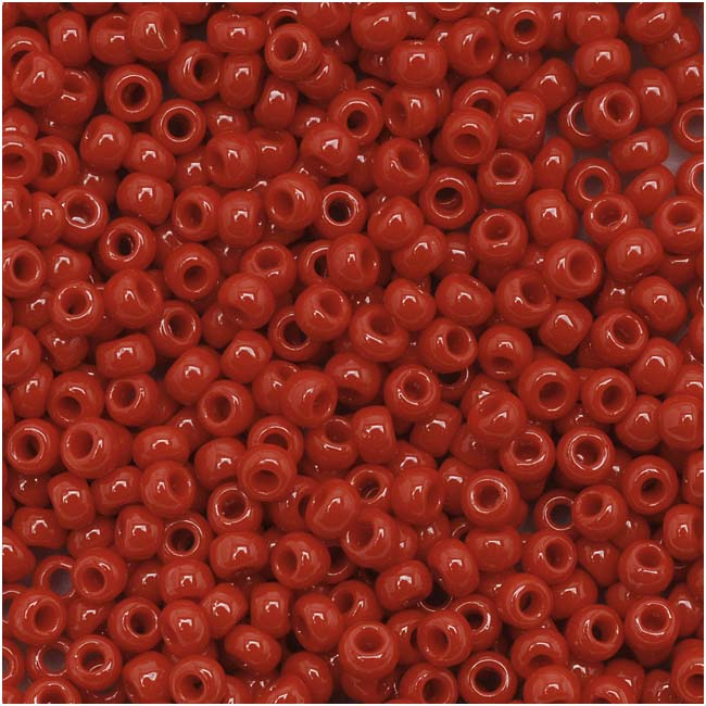 Toho Round Seed Beads 11/0 45 Opaque Pepper Red 8 Gram Tube