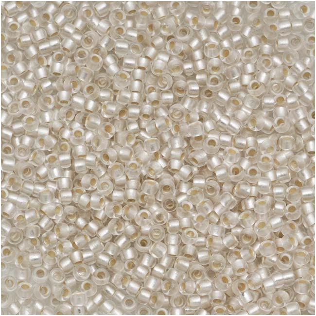 Toho Round Seed Beads 15/0 #21F 'Silver Lined Frosted Crystal' 8g
