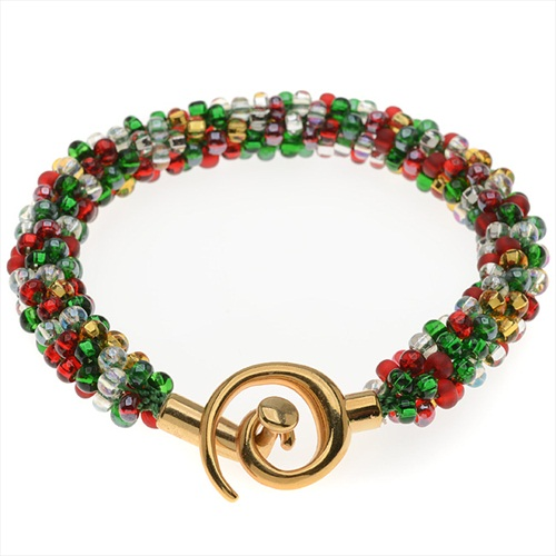 Beaded Kumihimo Bracelet (Christmas Tones) - Exclusive Beadaholique Jewelry Kit