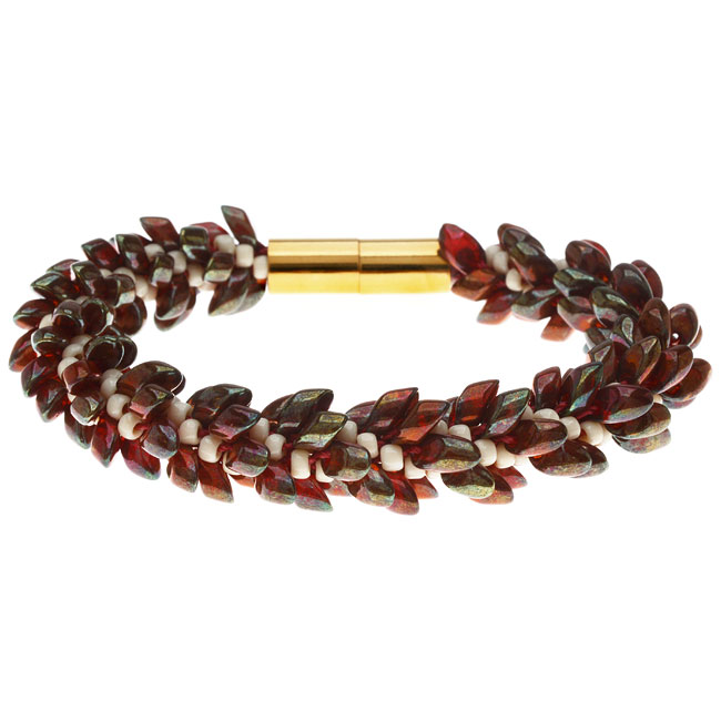Deluxe Beaded Kumihimo Bracelet (Marsala) - Exclusive Beadaholique Jewelry Kit