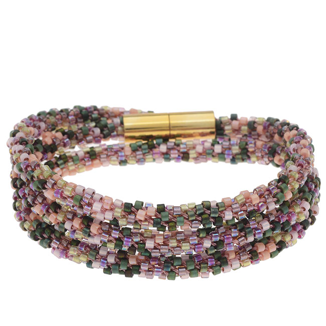 Beaded Kumihimo Wrap Bracelet Kit-Rose Tone - Exclusive Beadaholique Jewelry Kit
